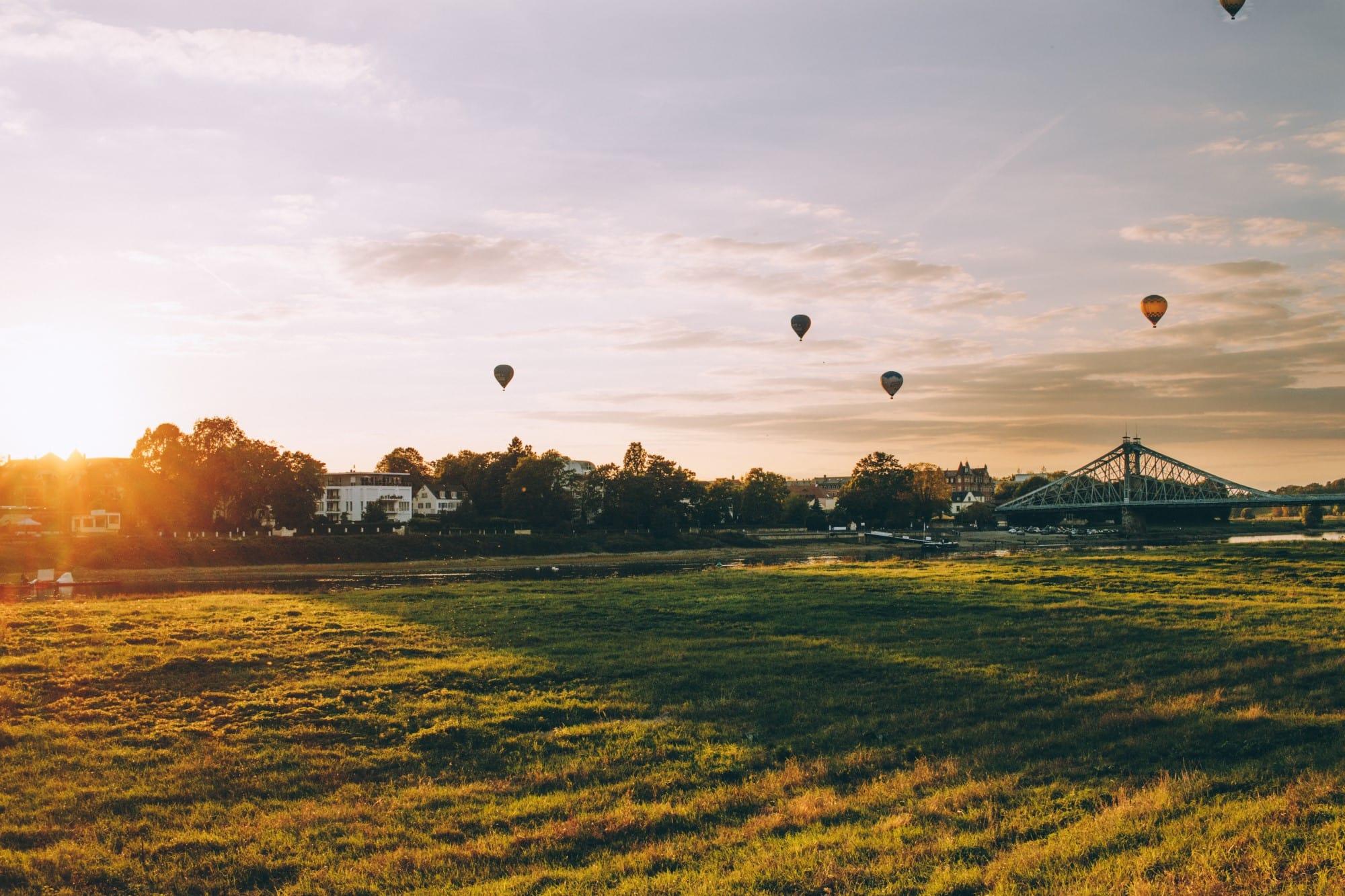 Fine-Art Print: Heißluftballons